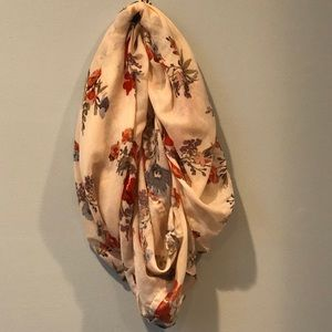 H&M Pink Floral Infinity Scarf